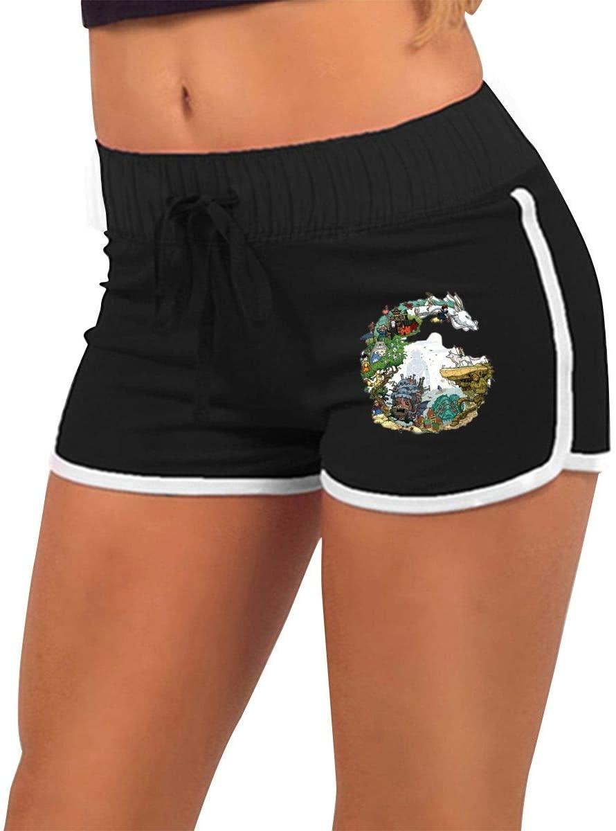 NOT Studio Ghibli Anime Art Women's Low Waist Hot Pants