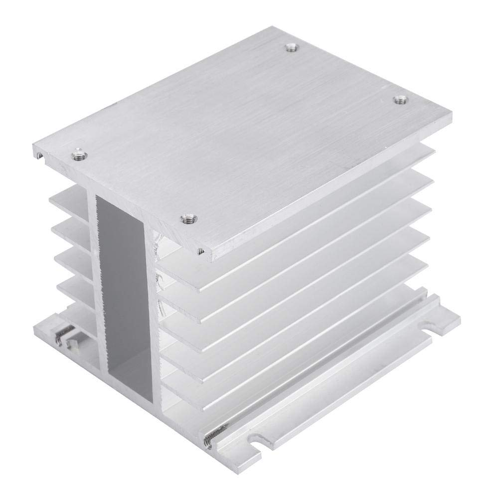 3 Phase Heat Sink Aluminum SSR Heatsink Three Phase Solid State Relay Heat Sink for DIN Installation and Dissipation