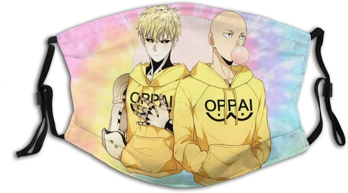 N/N One Punch Man Dust Reusable Washable Filter and Reusable Mouth Windproof Warm Cotton Face
