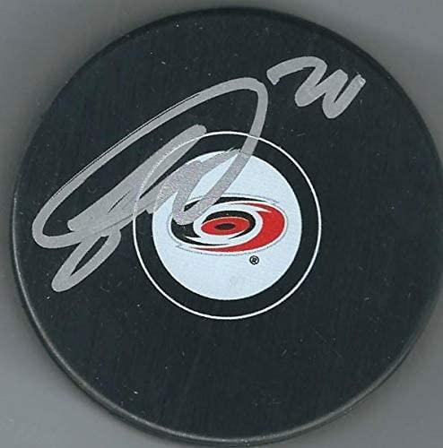 Sebastian Aho Signed Puck - JSA Certified - Autographed NHL Pucks