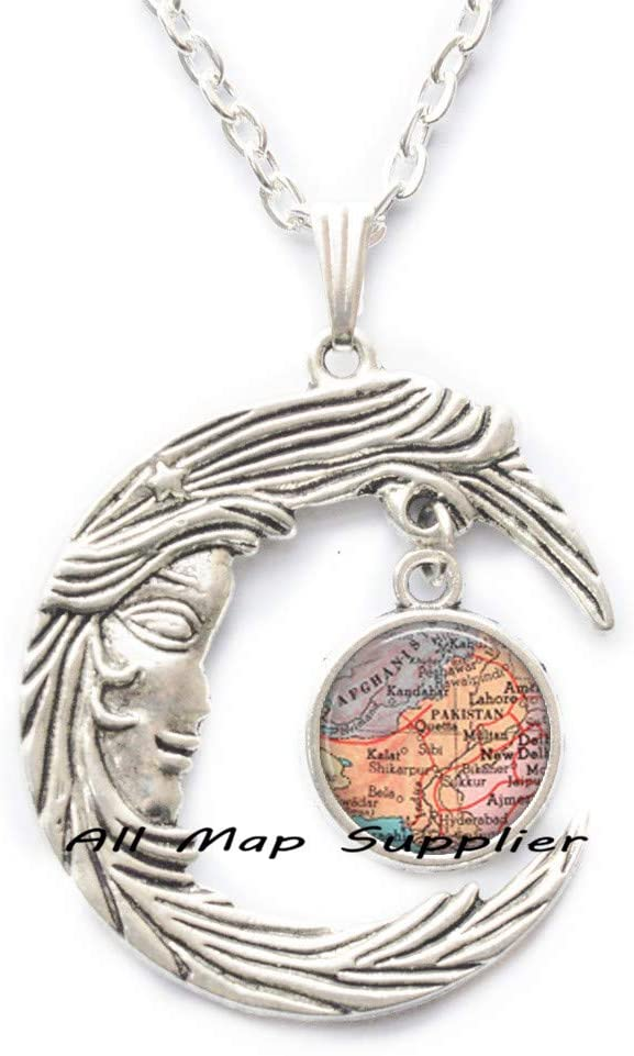 AllMapsupplier Fashion Necklace,Pakistan map Pendant,Pakistan Necklace,Pakistan Pendant,map Jewelry Pakistan map Necklace,A0113