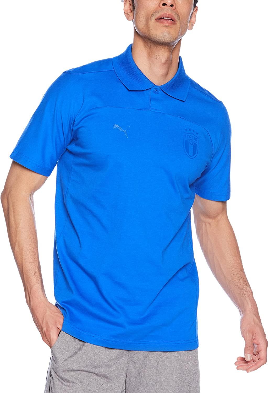 PUMA 2018-2019 Italy Azzurri Polo Football Soccer T-Shirt Jersey (Blue)