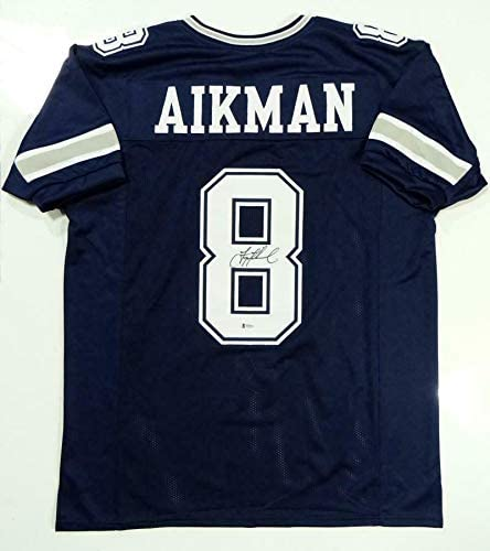 Signed Troy Aikman Jersey - Blue Pro Style Beckett Auth *Black - Beckett Authentication - Autographed NFL Jerseys