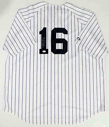 Whitey Ford Autographed Jersey - White Majestic w HOF Auth *1 - JSA Certified - Autographed MLB Jerseys