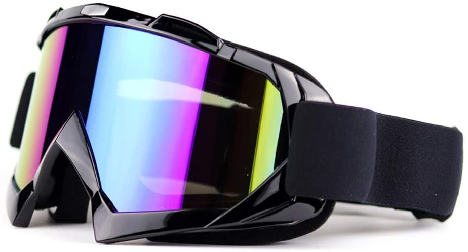 Diniiko Bike Goggles Motocross Goggles Windproof Dustproof Ski Goggles Protective Safety Glasses UV Protection Motorcycle Sunglasses for Outdoor Sports Actives