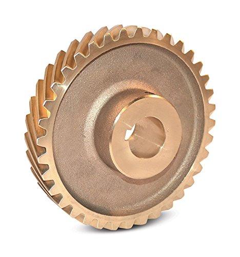 Boston Gear HB840R Web Helical Gear, 45 Degree Helix, 14.5 Degree Pressure Angle, 1.000 Bore, 8 Pitch, 40 Teeth, Bronze, RH