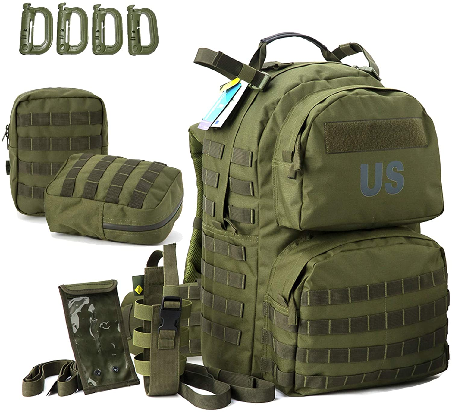 MT Military Surplus MOLLE Medium Rucksack with Pouch Army Tactical Backpack