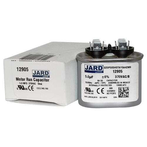 5 uF x 370 VAC Oval Run Capacitor by JARD # 12905