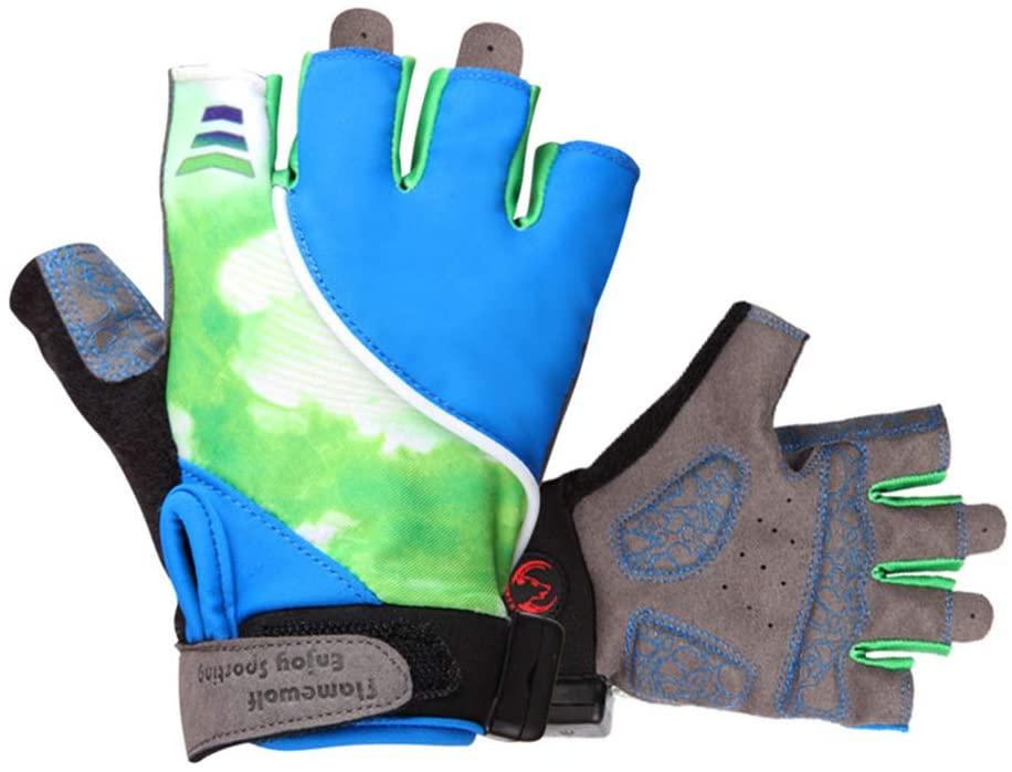 XUBA Led Luminous Gloves Anti-Skid Half Finger Turn Signal Riding Gloves