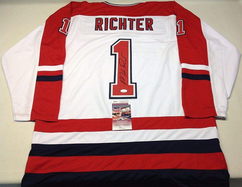 Signed Mike Richter Jersey - White #1 Usa Coa!!! - JSA Certified - Autographed NHL Jerseys