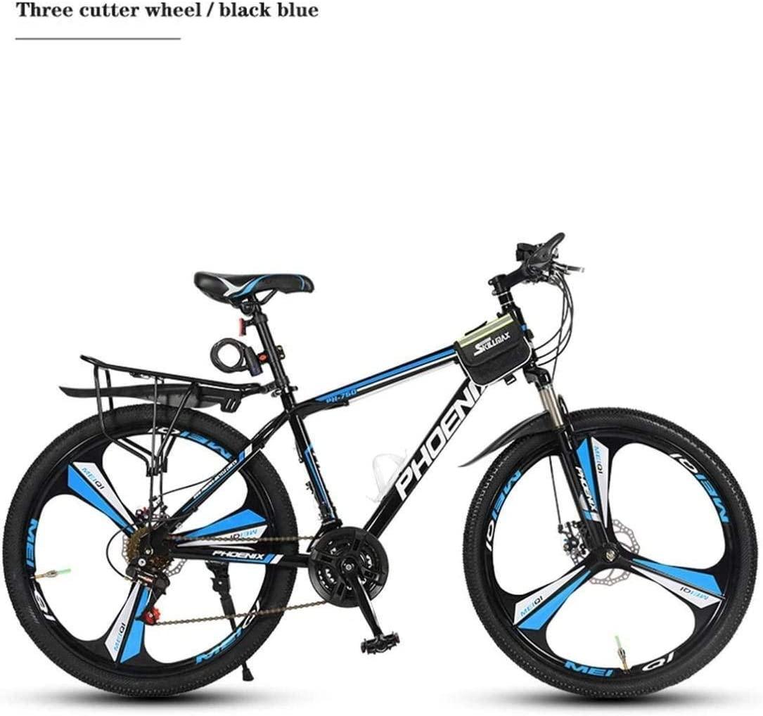 MJY Mountain Bike Bicycle, Aluminum Alloy Frame, Double Disc Brake, 26 inch Wheels, 21/24/27/30 Speed,3 Cutter Wheels, 6 Cutter Wheels 6-11,27