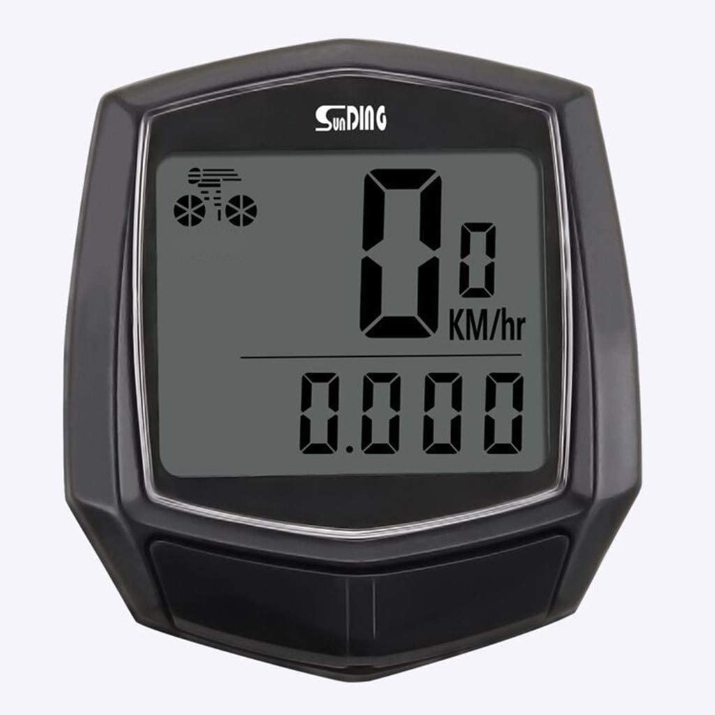 Cerrly Bicycle Speedometer and Odometer Wired Waterproof Stopwatch Cycle Bike Computer with LCD Display