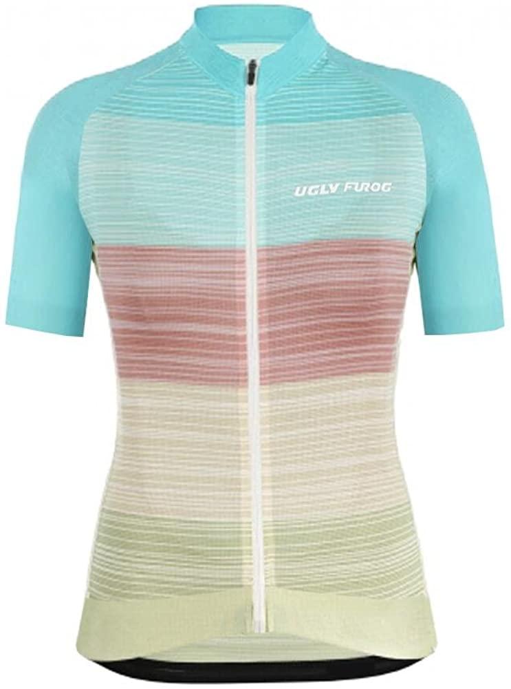 Uglyfrog Women's Cycling Jersey Short Sleeves Slim Fit Bike Bicycle MTB Shirts