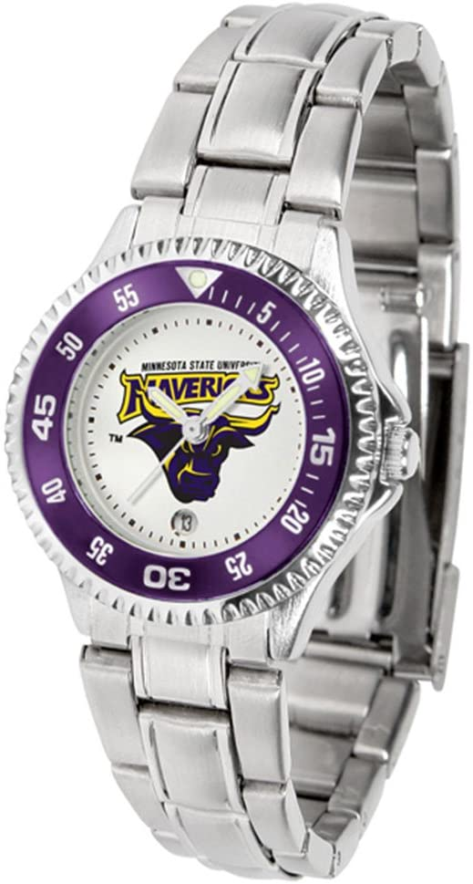 SunTime Minnesota State-Mankato Mavericks Competitor Ladies Watch with Steel Band