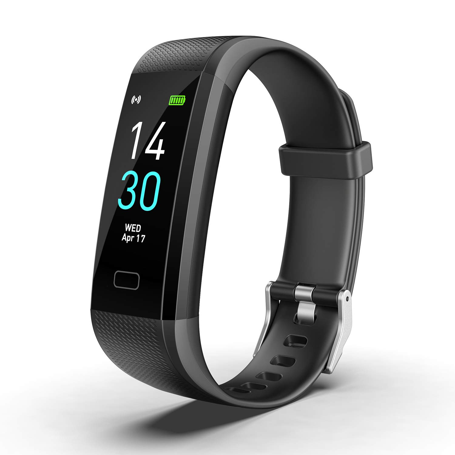 Fitness Tracker HR, Activity Tracker Watch with Heart Rate Monitor, Waterproof Smart Fitness Band with Step Counter, Calorie Counter, Pedometer Watch