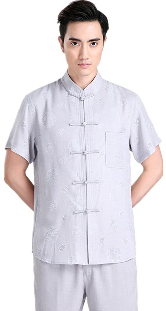 Shanghai Story Tang Suit Kung Fu Shirt Mandarin Collar Linen Chinese Top 2XL 0401