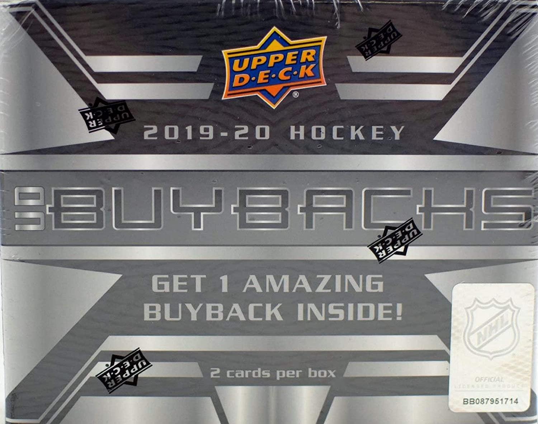 2019/20 Upper Deck Buybacks NHL Hockey box (2 cards)