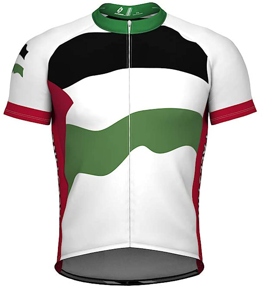 ScudoPro Palestine Emblem Full Zipper Bike Short Sleeve Cycling Jersey for Women