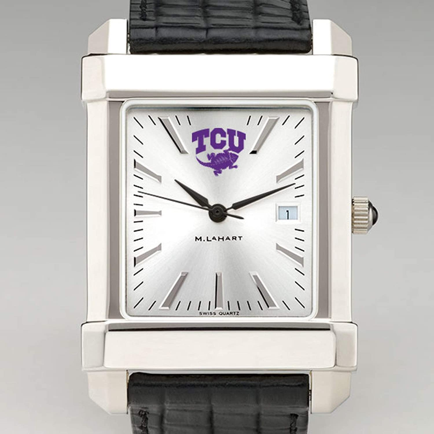NCAA Texas Christian University Men's Collegiate Watch with Leather Strap by M.LaHart