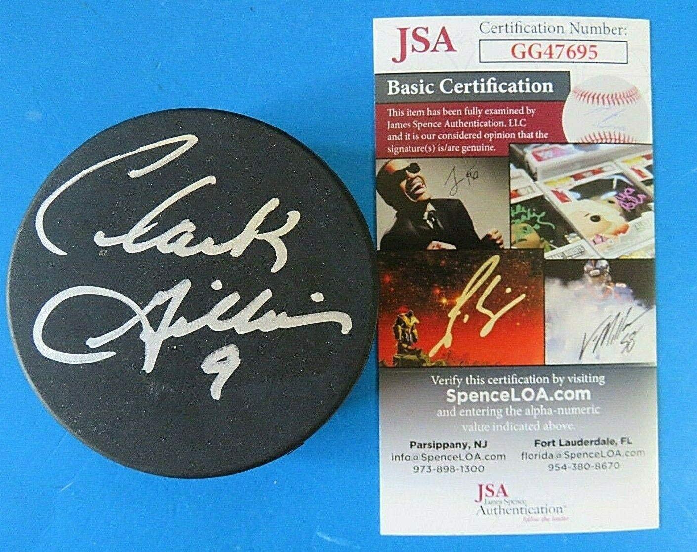 Clark Gillies Autographed Puck - ~ GG47695 - JSA Certified - Autographed NHL Pucks