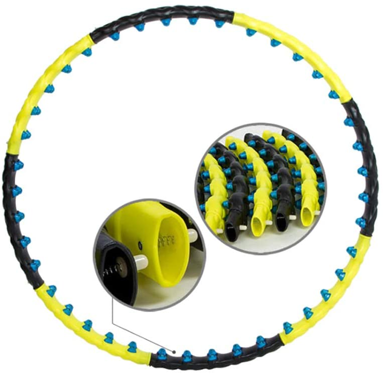 SEYE1° Magnetic Hula Hoop/Fitness Ring Removable Hula Hoop with Double Rows of Magnetic Massage Beads Can Be Funny Fat Burning