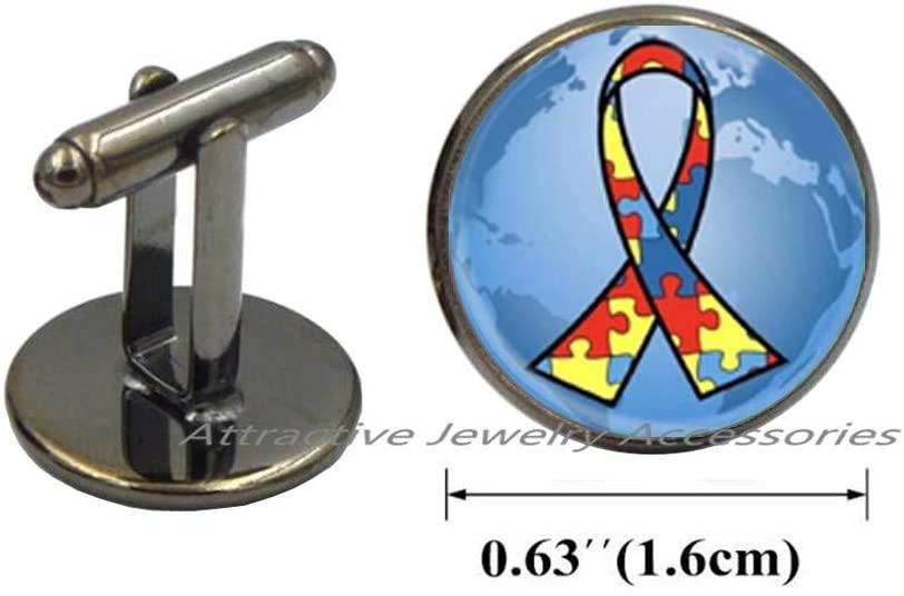 Wklo0avmg World Autism Awareness Charm Cufflinks Puzzle Piece Cuff Links Special Education Teacher Gift Autism Awareness Month Jewelry Autism Speaks,QK0O87
