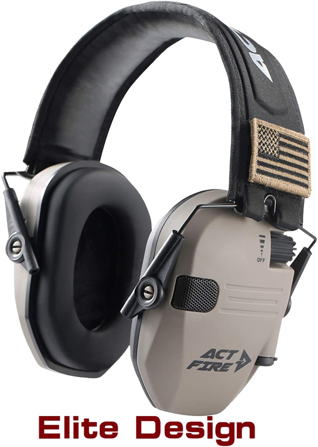 ACT FIRE Shooting Earmuffs, Electronic Ear Protection for Gun Range, Elite Combat Design