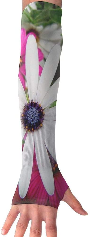 TO-JP Blooming Flowers Gloves Anti-uv Sun Protection Long Fingerless Arm Cooling Sleeve