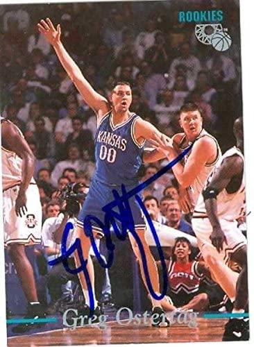 Greg Ostertag autographed basketball card (Kansas Jay Hawks) 1995 Classic #26 NCAA Rookie - Unsigned Basketball Cards