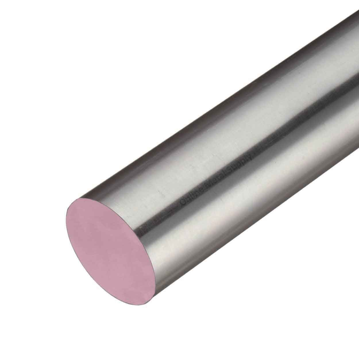 Online Metal Supply 303 Stainless Steel Round Rod, 2.500 (2-1/2 inch) x 7 inches