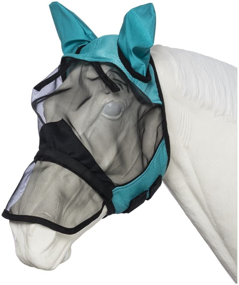 Tough-1 Deluxe Comfort Mesh Fly Mask w/Mesh Nose