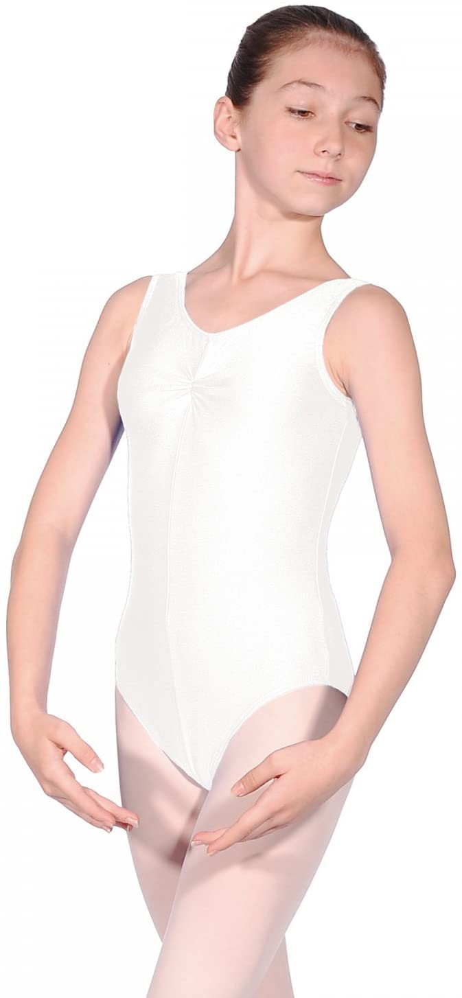 Roch Valley Sheree Nylon/Lycra Leotard White Age 9-10 134-140cm (2)