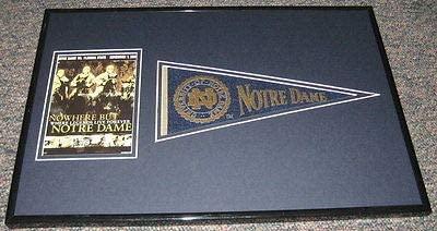 2003 Notre Dame vs Florida State Framed Pennant & Program Display Official Repro