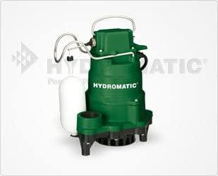 Hydromatic HP50 Cast Iron Sump Pump, 20' Power Cord