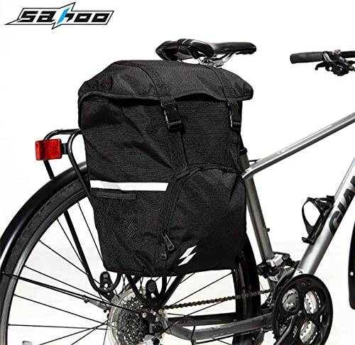 unbrand SAHOO Bike Tail Rear Seat Trunk Bag Bicycle Saddle Bag Rack Side Panniers Pouch