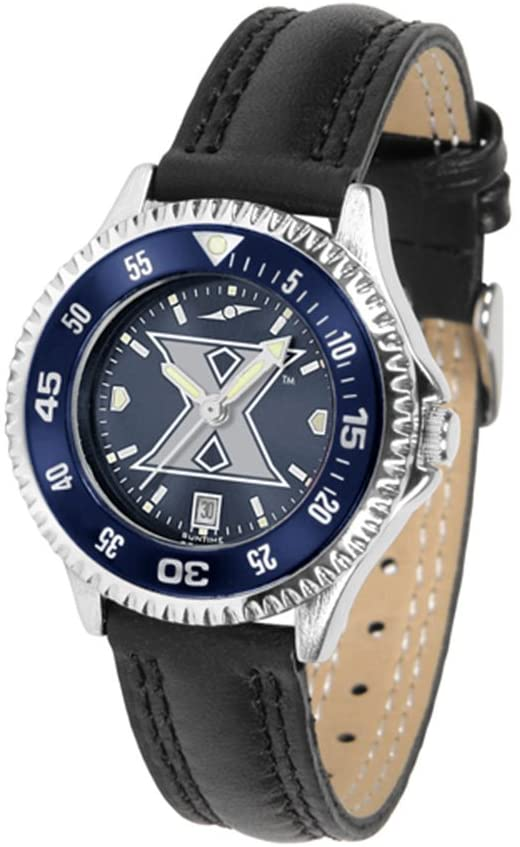 SunTime Xavier Musketeers Competitor Ladies AnoChrome Watch with Leather Band and Colored Bezel