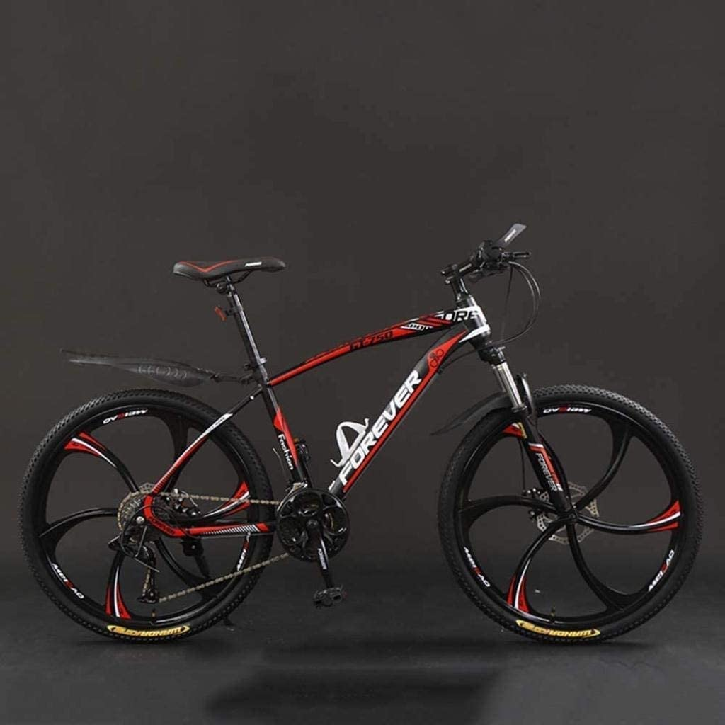 CSS Bicycle, 26 inch 21/24/27/30 Speed Mountain Bikes,Hard Tail Mountain Bicycle, Lightweight Bicycle with Adjustable Seat, Double Disc Brake 6-24,24 Speed