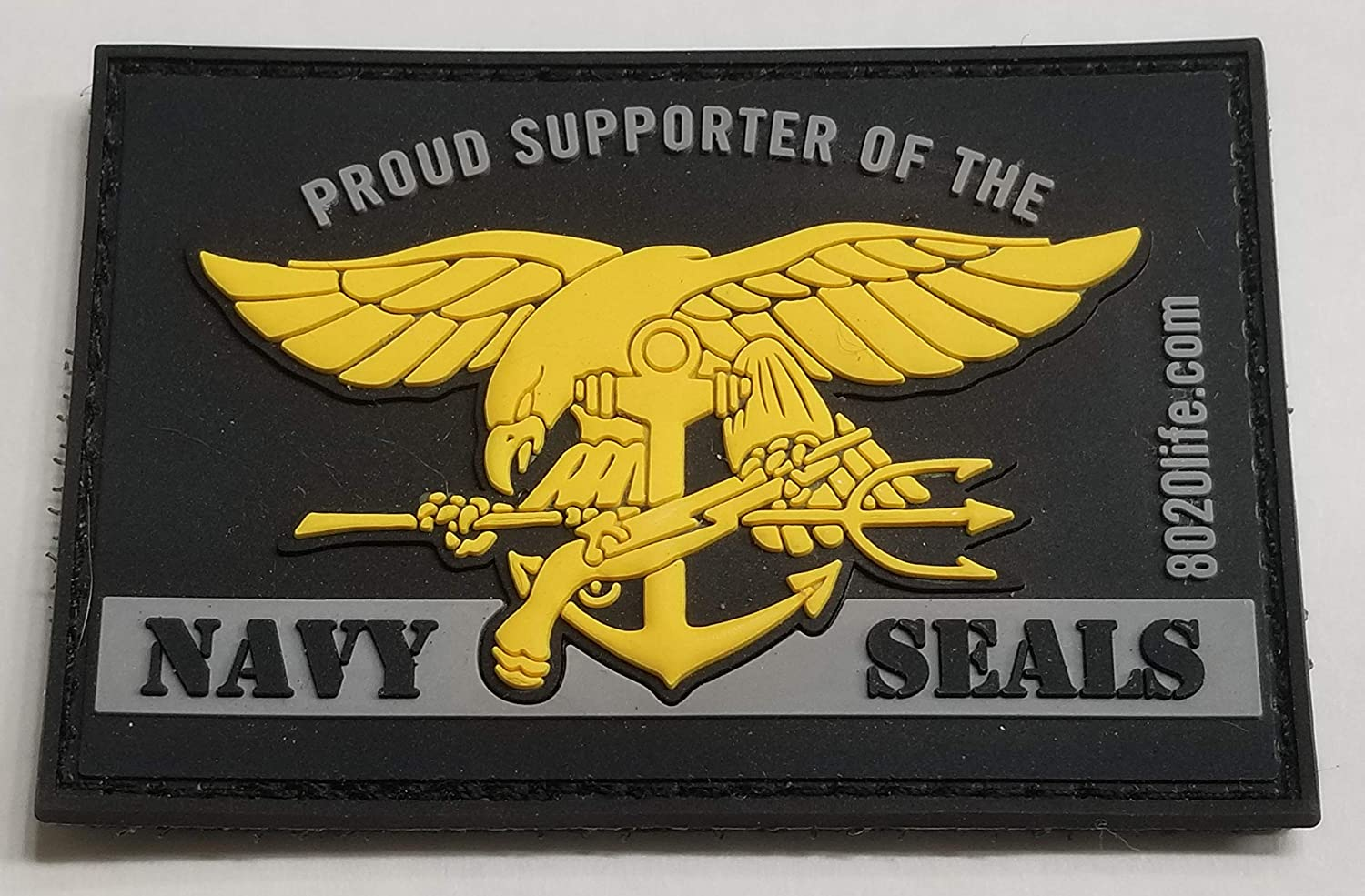 80/20 Life Proud Supporter of The Navy Seals PVC Morale Patch