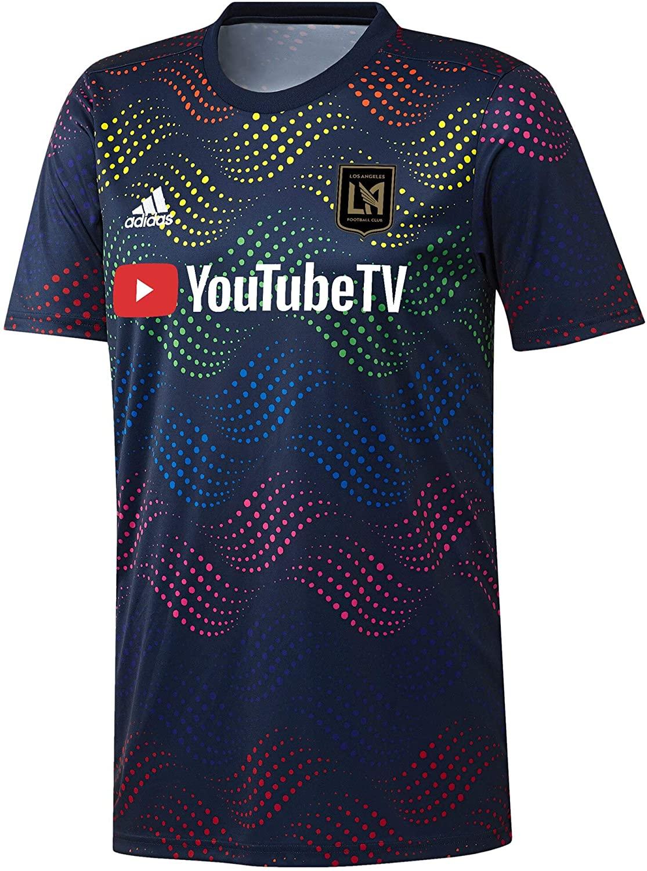 adidas 2019-20 LAFC Pride Pre-Match Jersey - Navy-Rainbow M