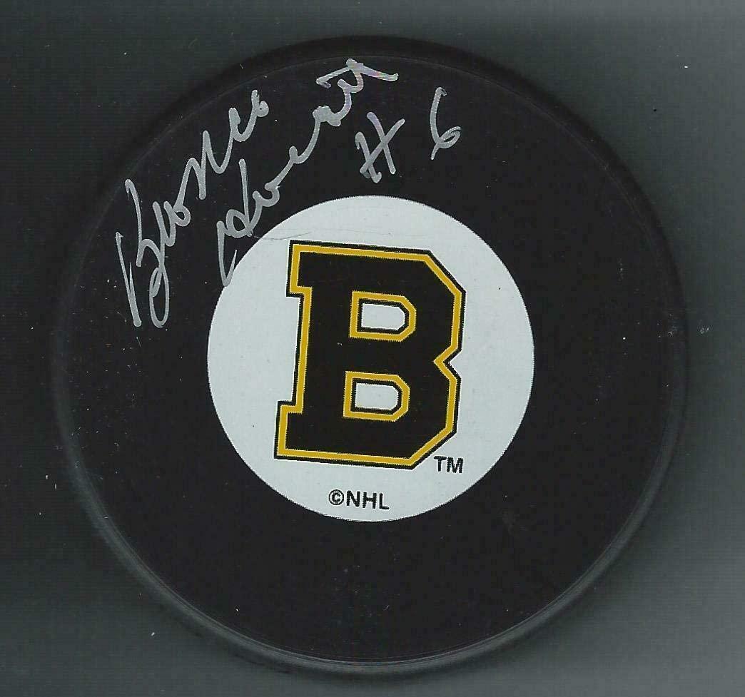 Signed Bronco Horvath Puck - Vintage Logo - Autographed NHL Pucks