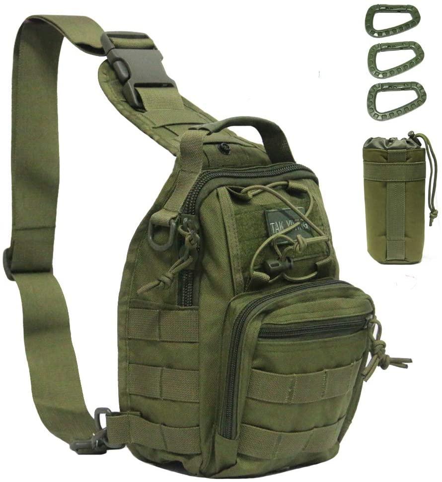 Tactical Bag Backpack, Outdoor Sport Bag Pack Sling Shoulder Bag Small Chest Pack for Traveling Trekking Camping