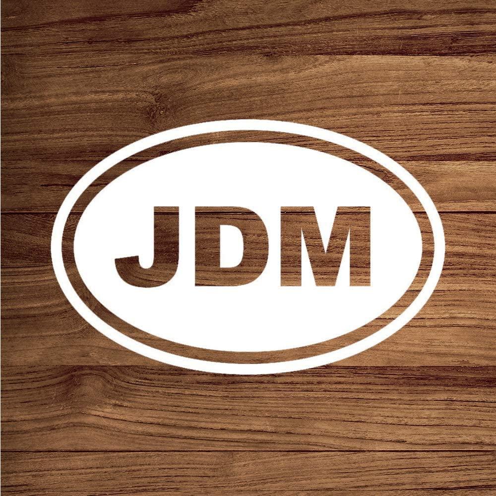 None Brand JDM Oval Euro Japan Vinyl Sticker Graphic Bumper Tumbler Decal for Vehicles Car Truck Windows Laptop MacBook Phone Wall Door