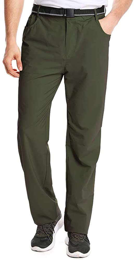 Aiegernle Men's Outdoor Casual Quick Dry Lightweight Hiking Fishing Pants