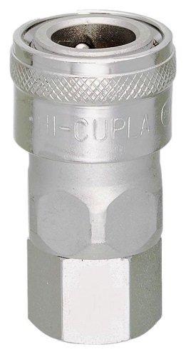 Nitto Kohki Hi Cupla 40SF-NPT Quick Connect Pneumatic Coupler Socket, 1/2 Size, Female, NPT Thread, 218 PSI, Steel