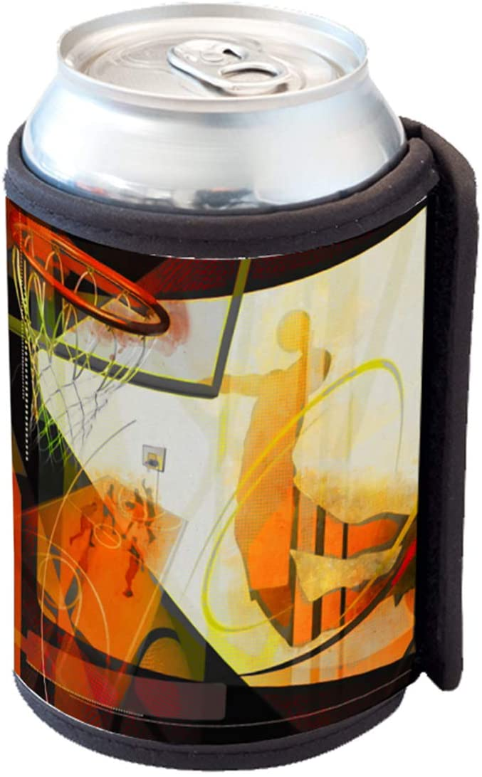 Love Dove Basketball Finals Basket Dunk - Insulated Soda & Beer Can Cooler Sleeve Wrap