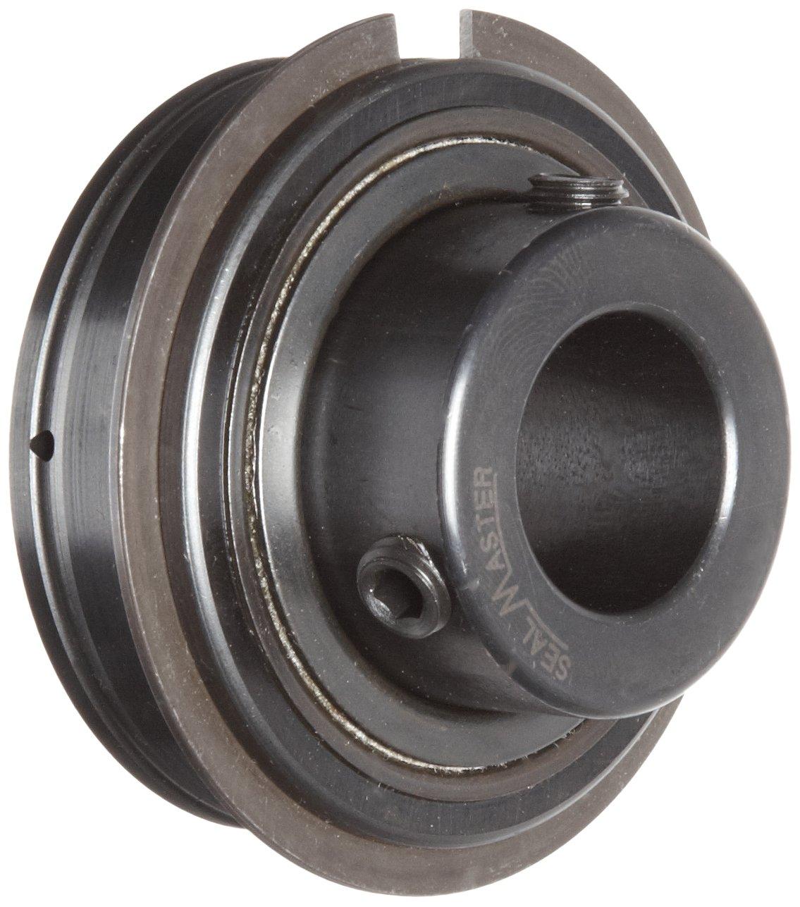 Sealmaster ER-11 Cylindrical OD Bearing, Setscrew Locking Collar, Light Contact Felt Seals, 11/16