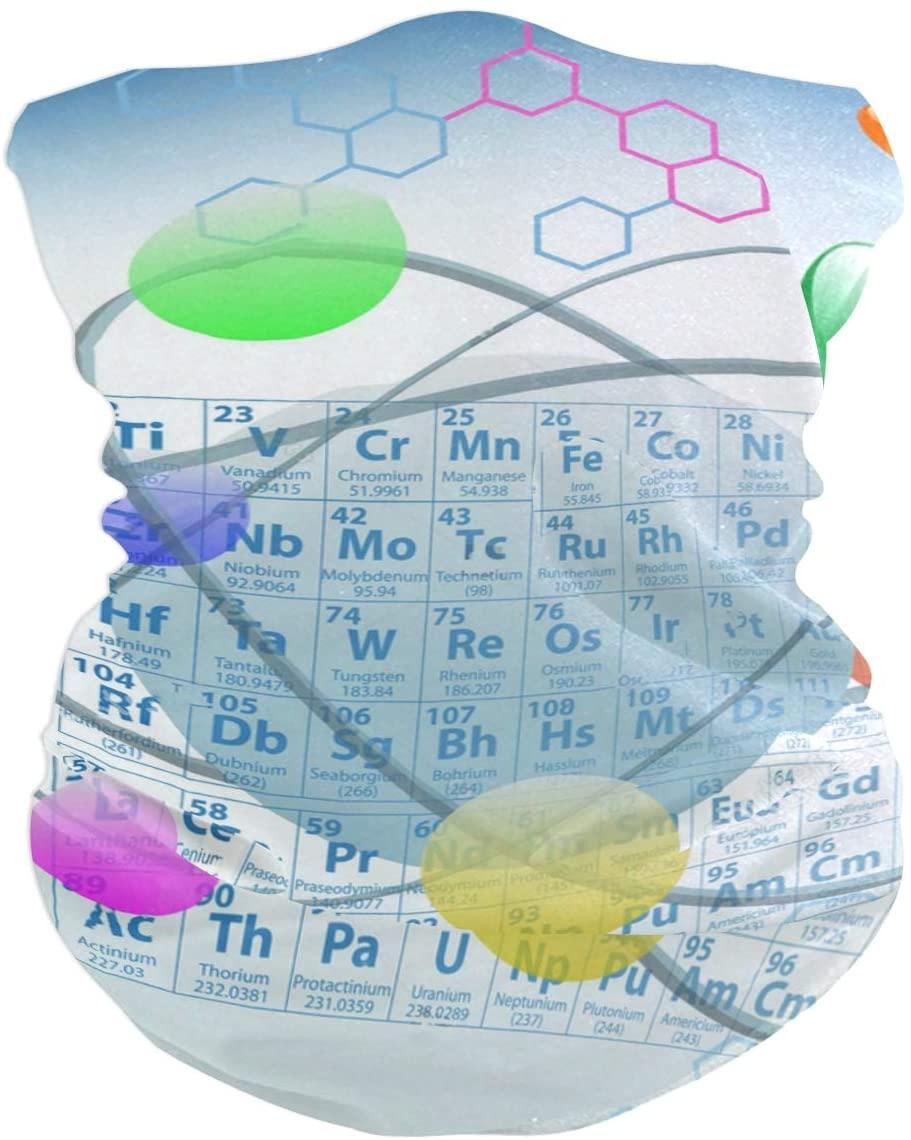 Love beautiful Chemical Periodic Table Atoms Face Mask UV Sun Mask Dust Wind Neck Gaiter Magic Bandana
