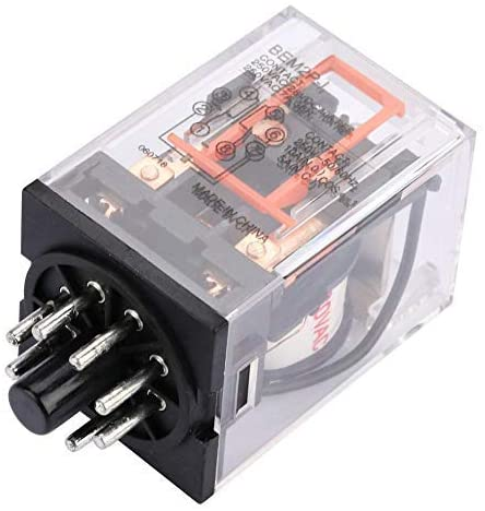 Electric power relay, MK2P-I AC 220V 10A General-purpose electromagnetic electric relay 8 pin H plug installation Contact