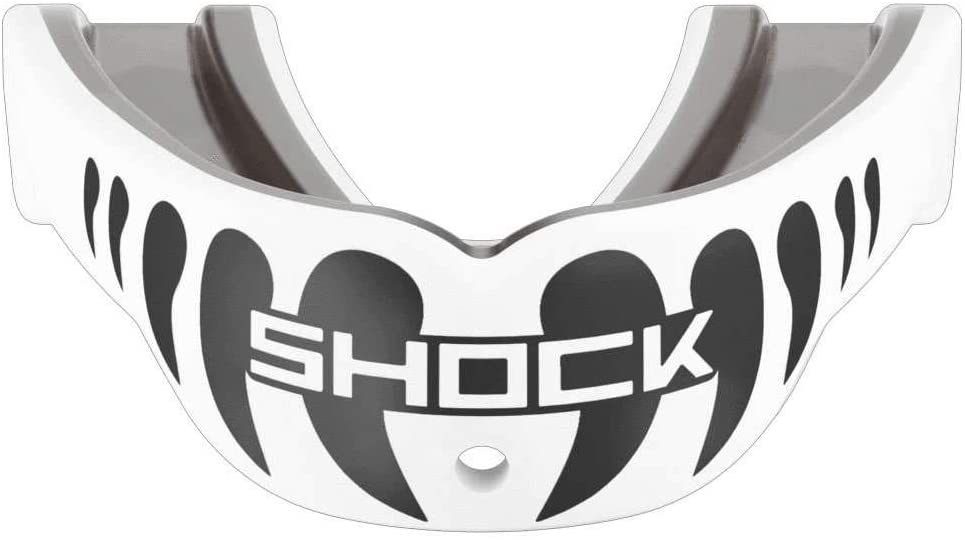 Shock Doctor Adult Gel Max Power Print Mouthguard - White/Black Fang - 6900-WHTBLKFANGA