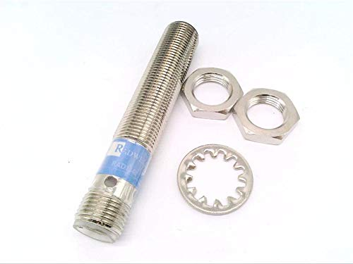 RADWELL RAD01340 PNP Output, 6MM Range, 4-PIN, Proximity Sensor - Long Range Proximity Sensor, Chrome Plated Brass, Shielded Construction, M12 Quick-Connect, 12MM Threaded Body, Cylindrical, Normally